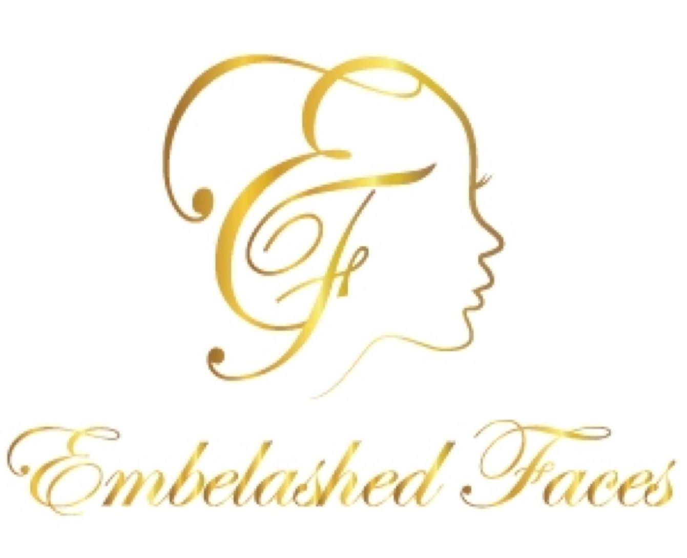 Embelashed Faces Gold Logo