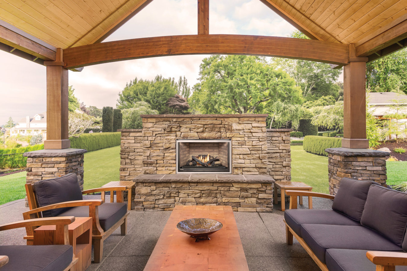 outdoor fireplace embers