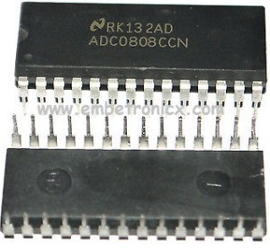 ADC0808 interfacing with 8051