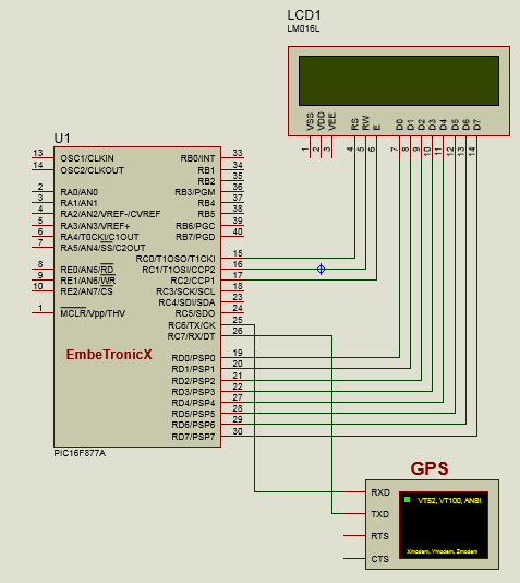 GPS Interfacing with PIC16F877A