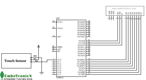 Touch Sensor Interfacing with 8051