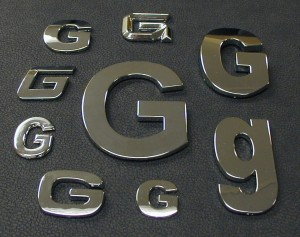 Chrome Letters Gallery