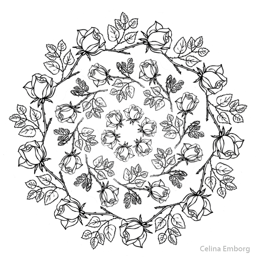 Cross Mandala Coloring Pages