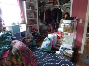 bedroom after mom cleans