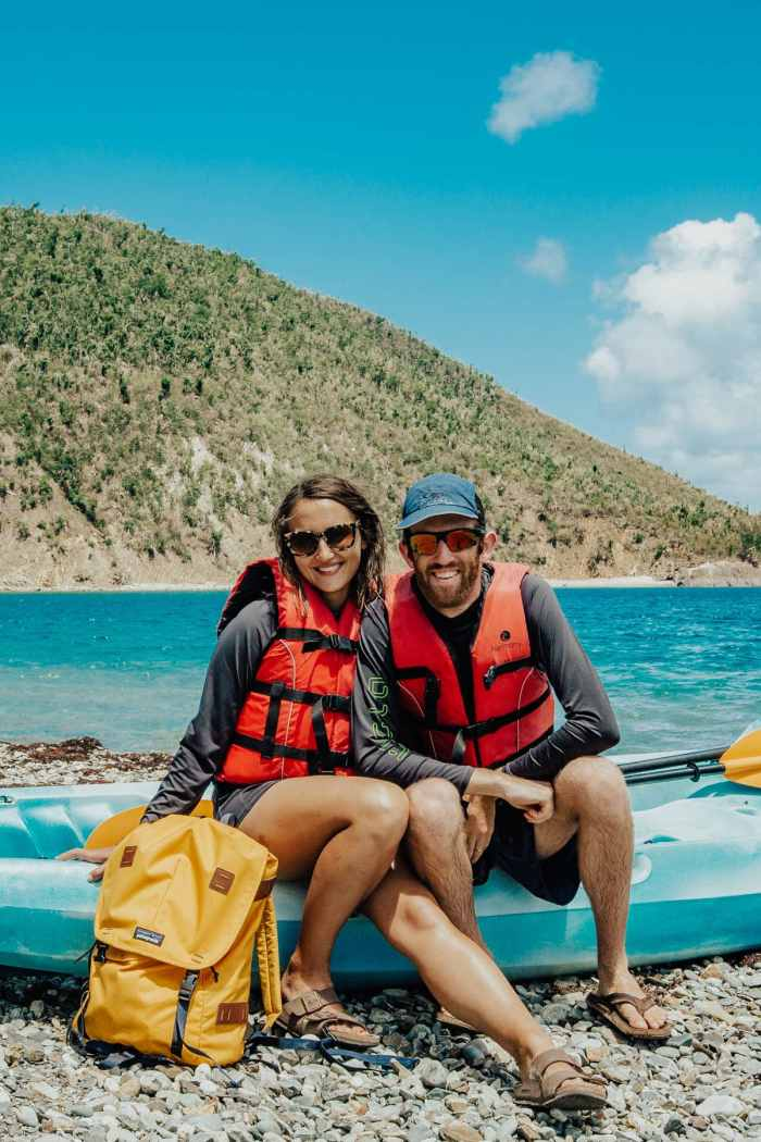 Kayaking to Whistling Cay, US Virgin Islands