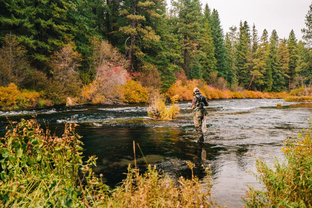 Metalius River Fly Fishing Turning Oregon
