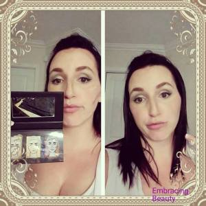 highlight and contour Younique's Sculpting Trio Makeup Look Kim Willis Embracing Beauty
