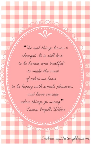 Laura Ingalls Wilder ~ 5 Days of Classic Books for Girls at embracingdestinyblog.com
