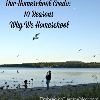 Our Homeschool Credo: 10 reasons why we home educate our children