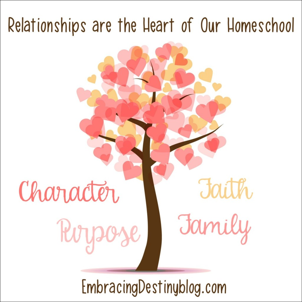 Building, encouraging, and maintaining strong relationships are the heart of our homeschool. Heart-centered homeschooling. Purposeful homeschooling.