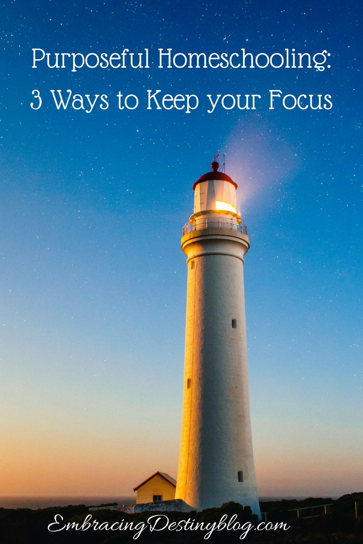 Feel like you're spinning your wheels in your homeschool lately? Here's a way to keep your focus and continue with purposeful homeschooling.