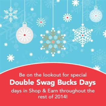 Shop and Earn with Double Swagbucks Days