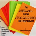 Ultimate List of Free Lapbooks for Every Subjects @ embracingdestinyblog.com