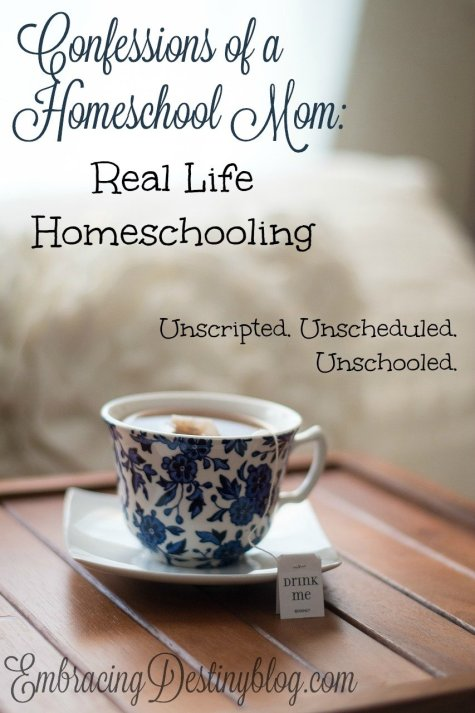 Confessions of a Homeschool Mom: Real Life Homeschooling at embracingdestinyblog.com