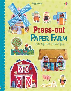 Press out paper farm book for kids | build a farm