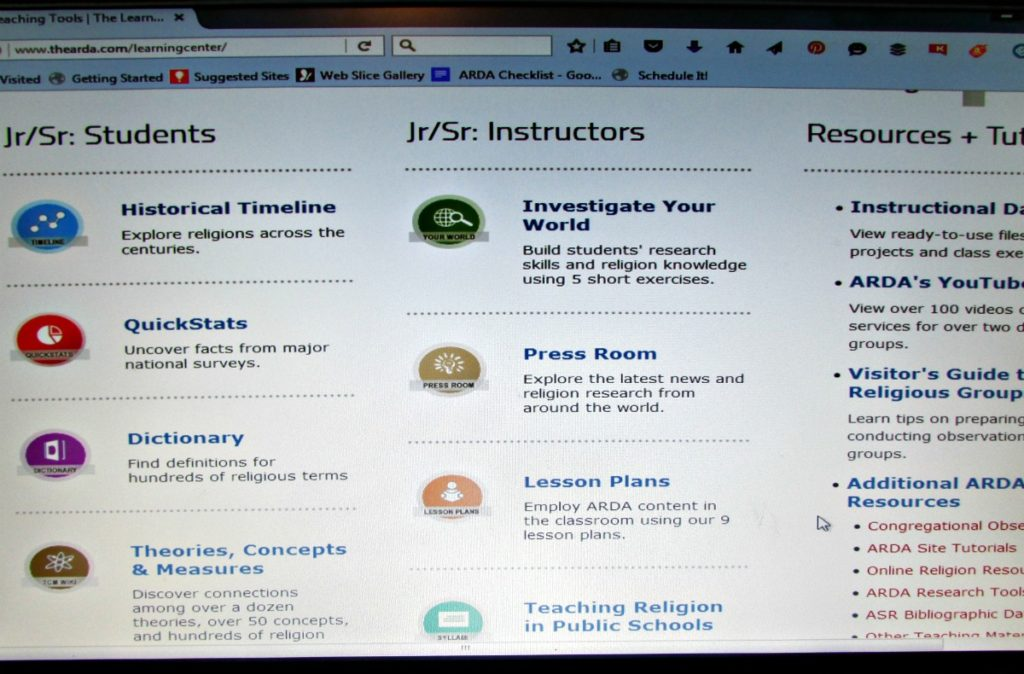 the ARDA Teaching Tools ~ free resources for Jr/Sr high