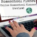 Homeschool Planet Online Homeschool Planner review