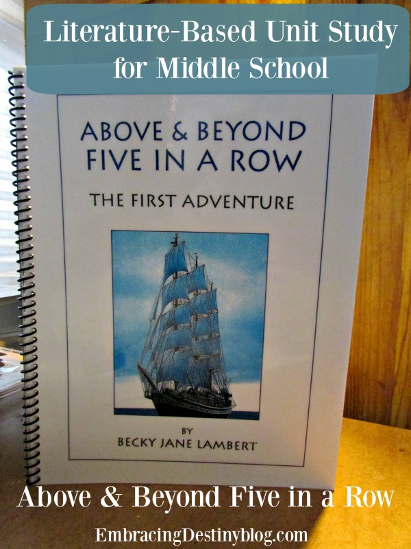 Above & Beyond Five in a Row for Middle School ~ Literature-based unit study. Thorough review along with photos and how to use it for 7-8th grade in your homeschool.