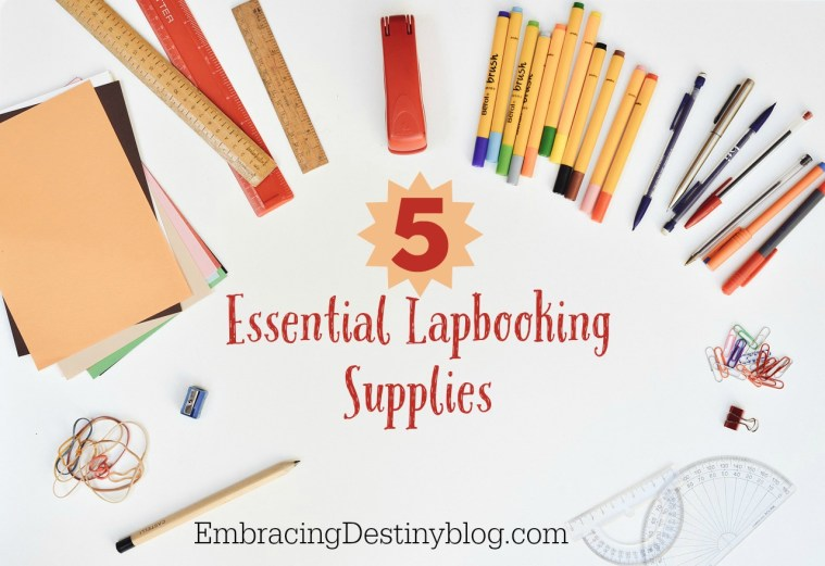 5 Essential Lapbooking Supplies for the best results in your homeschool lapbook projects