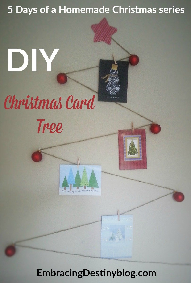 Pretty And Practical DIY Christmas Card Tree Embracing