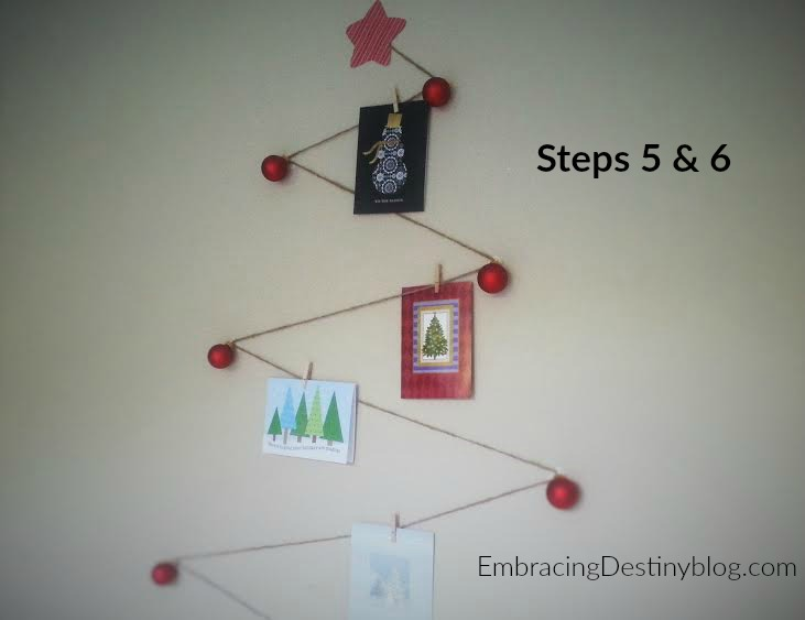 DIY Christmas Card Tree ~ steps 5 & 6 ~ the finished product
