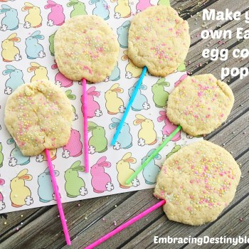 Homemade Easter Egg Cookie Pops