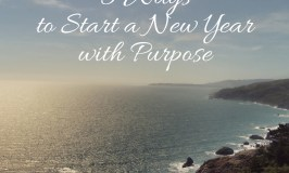 Get your new year off to a good start with purpose and intentional living.