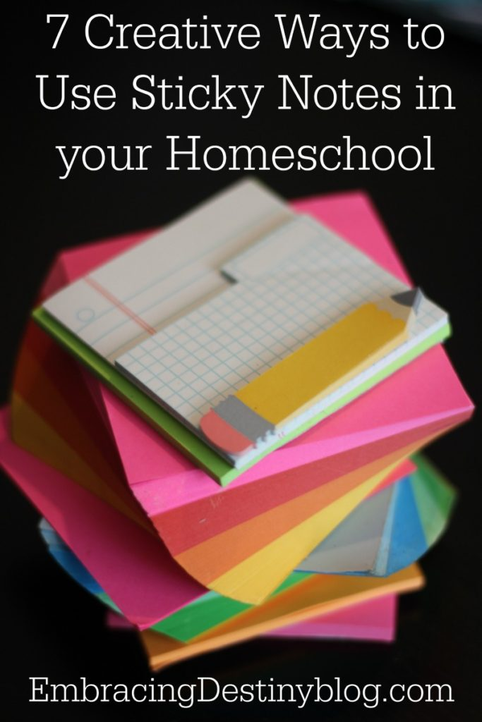 Creative Ways to Use Sticky Notes in your Homeschool | games, review, lesson plans, + more | homeschooling tips and tricks | homeschool hacks