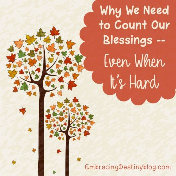Why We Need to Count Our Blessings {Even When It's Hard}