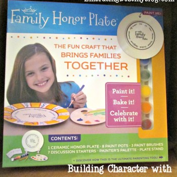 Building Character with the Family Honor Plate