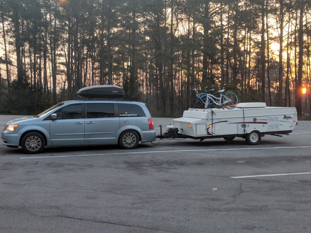 towing a pop up full time with our chrysler town and country van embracing eclectic chrysler town and country van