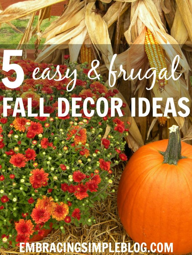 Easy Fall Decorating Ideas Tips And For Adding Decor To Your Home That