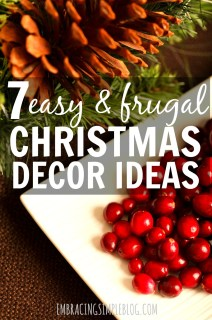 Easy and inexpensive Christmas decor ideas to give you some inspiration for simple ways you can decorate your own home this holiday season!