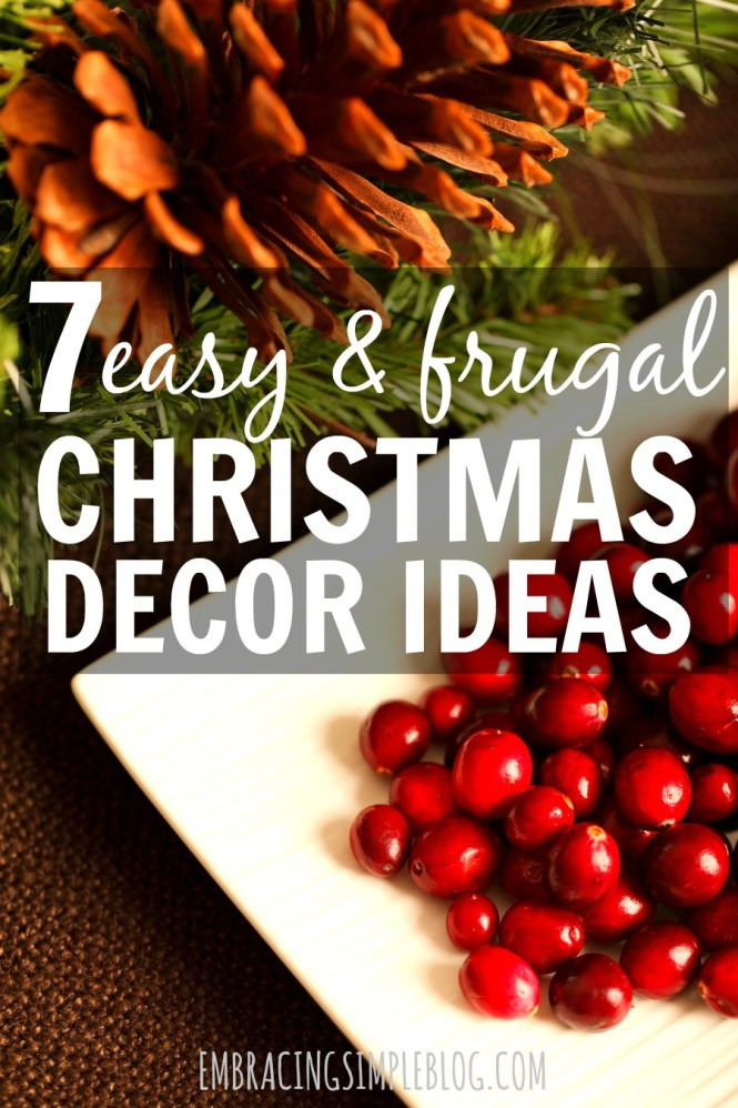 Quick And Easy Christmas Decoration Ideas