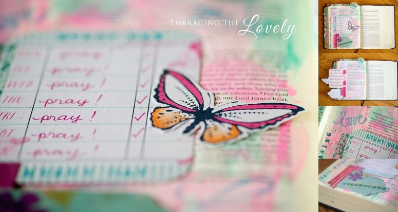 Pray without Ceasing Bible Journaling from Philippians 4:17 with Embracing the Lovely