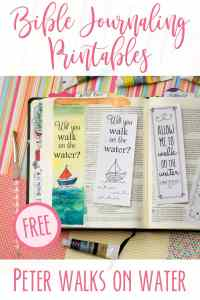 Bible Journaling Printables-Peter Walks on the Water
