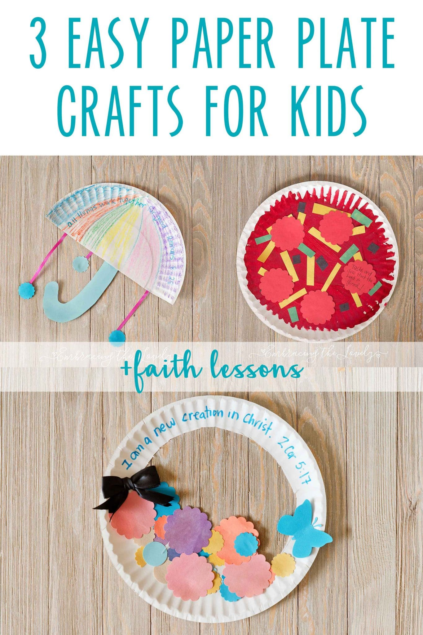 3 Paper Plate Crafts For Kids + Faith Lesson  sc 1 st  Embracing the Lovely & Easy Paper Plate Crafts for Kids +Faith Lessons with Embracing the ...