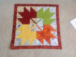 maple leaf mini quilt