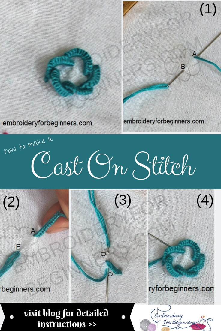 cast on stitch step by step pictures