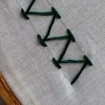 chevron stitch in hand embroidery