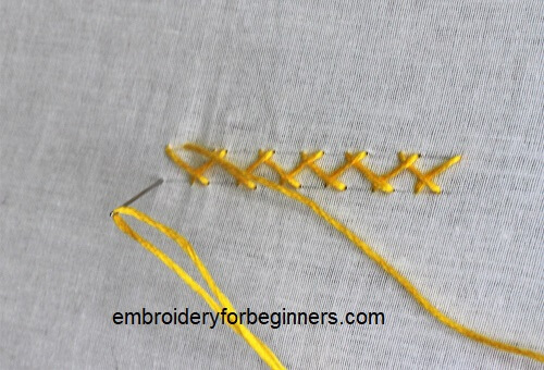 finishing herringbone stitch