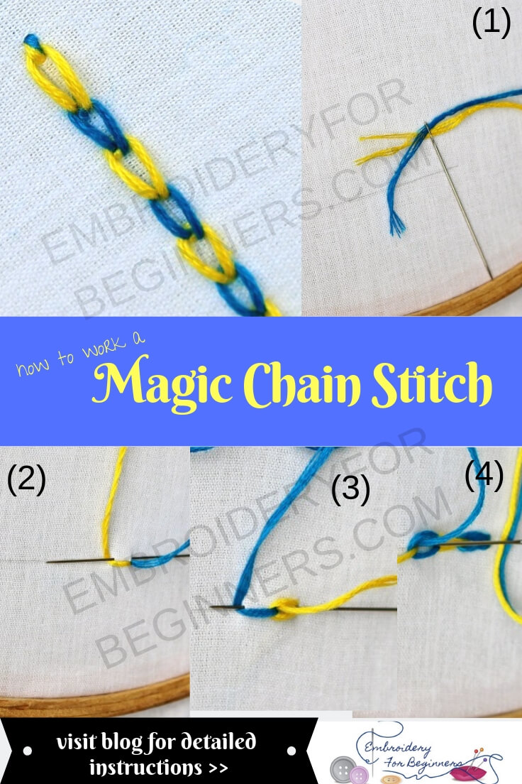 learn how to work a magic chain stitch