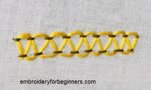 stepped parallel running stitch