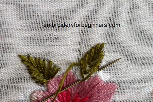 visit blog for detailed info on fishbone stitch