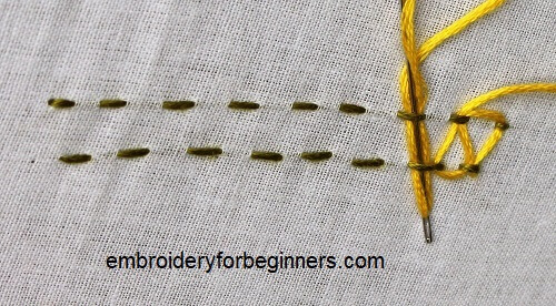 working stepped running stitch