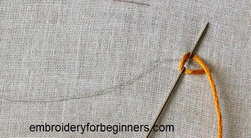 looping thread around the needle
