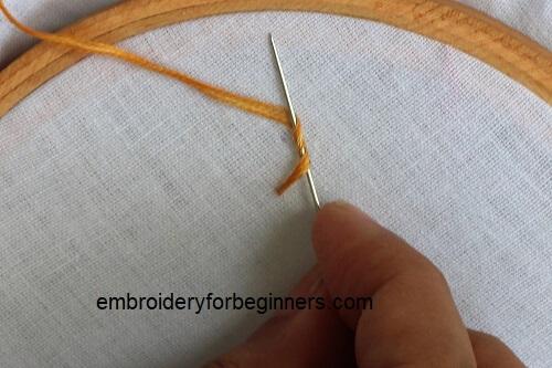 starting the pistil stitch