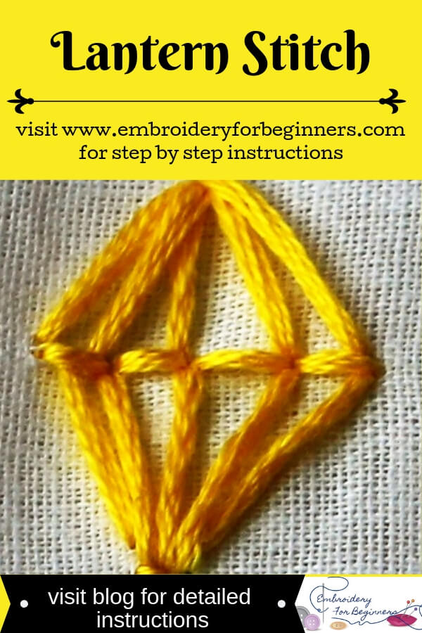 visit blog for detailed instructions for working the lantern stitch