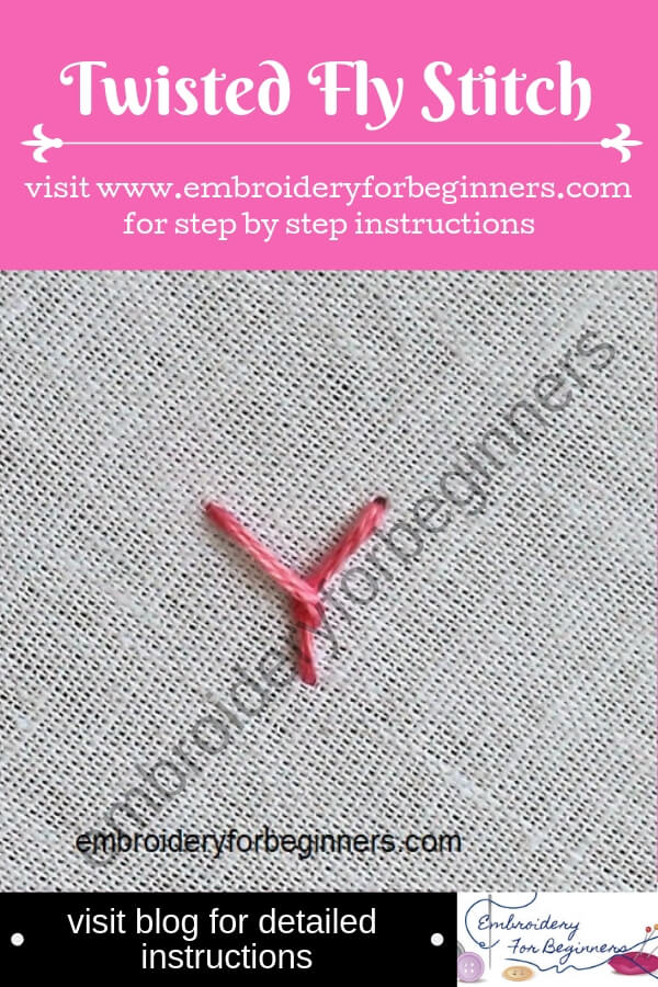 visit blog for detailed instructions for working the twisted fly stitch