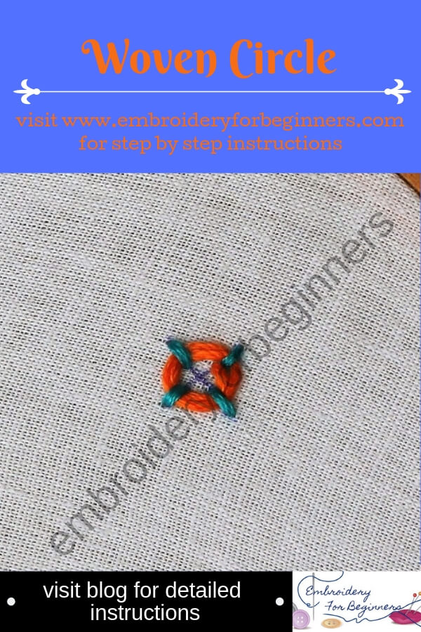 visit blog for detailed instructions for working the woven circle